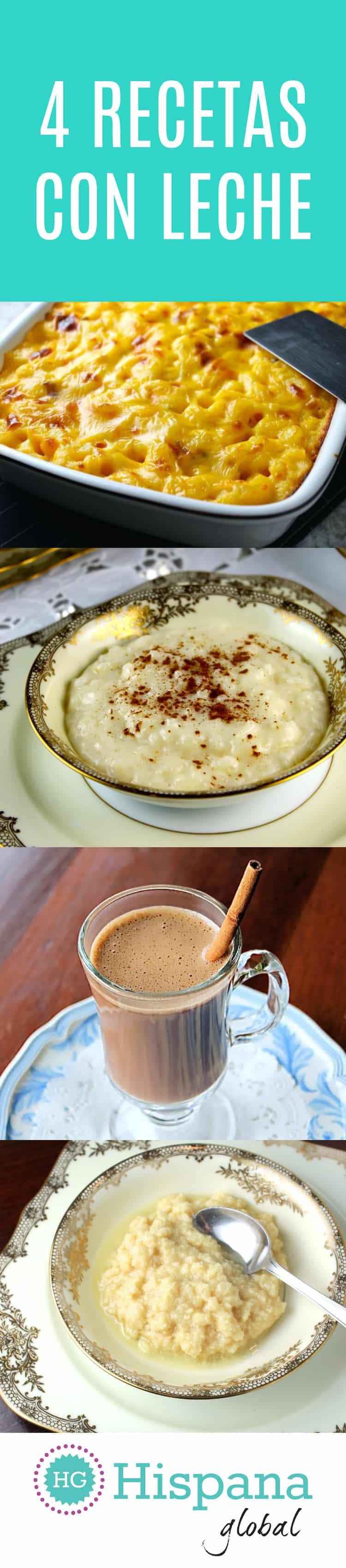 4 recetas con leche