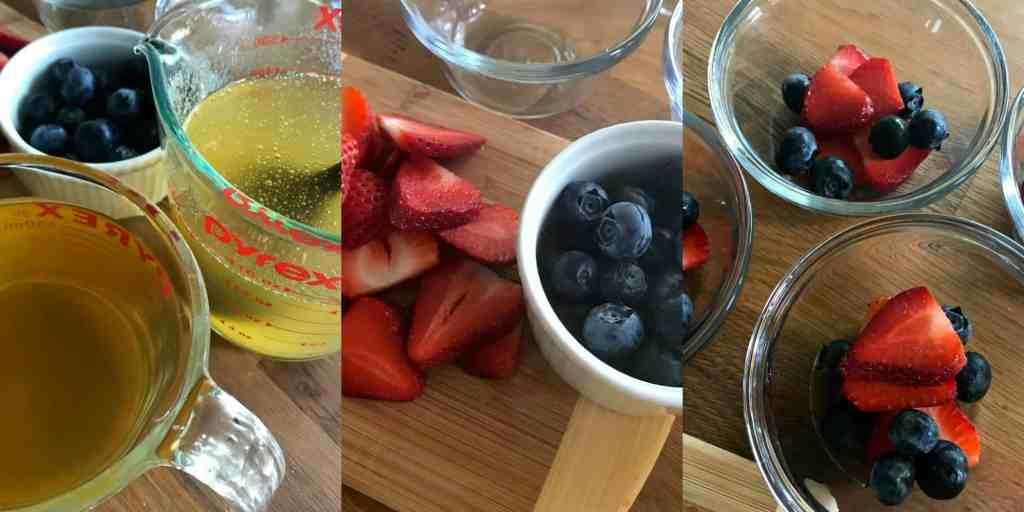 Esta deliciosa gelatina con frutas está hecha con jugo de frutas y frutas de verdad. Además es un postre o una merienda fácil de preparar.