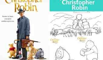 7 Dibujos para colorear gratis de Christopher Robin