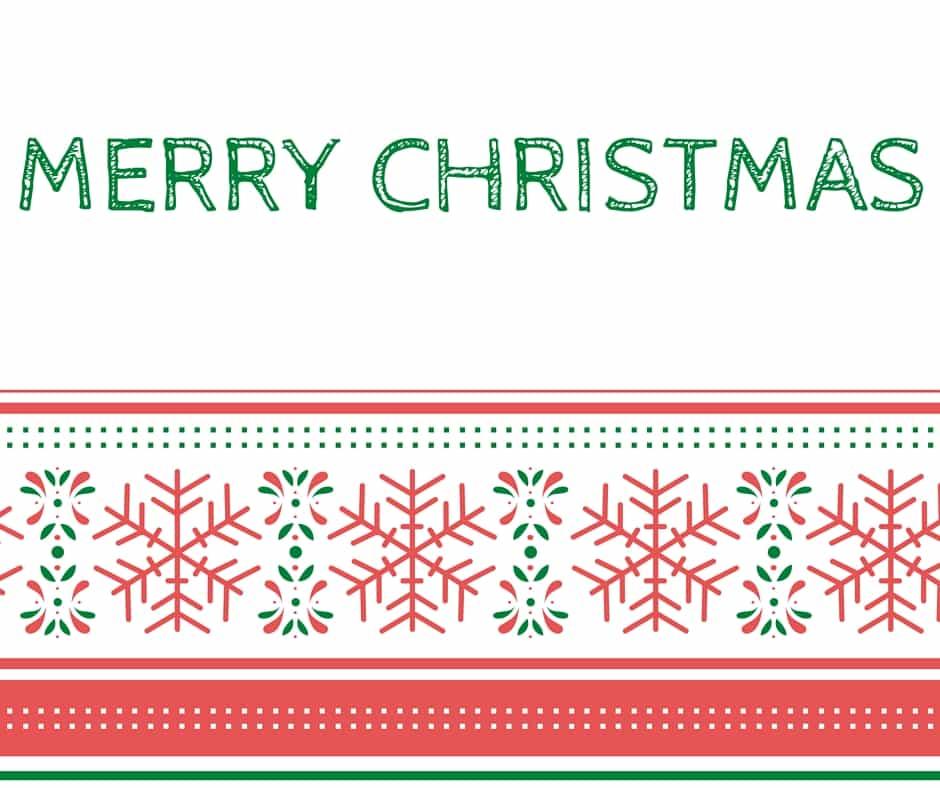 Merry Christmas Red And White Printable Card Hispana Global