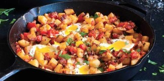 Chorizo Potato and Egg Breakfast