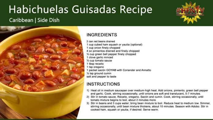 Habichuelas Guisadas - Stewed Red Beans
