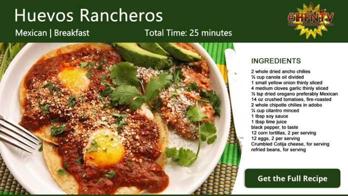 Huevos Rancheros ~ Rancher's Eggs Recipe Card