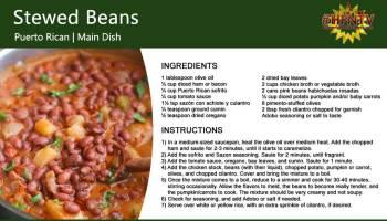 Puerto Rican Stewed Beans (Habichuelas Guisadas)