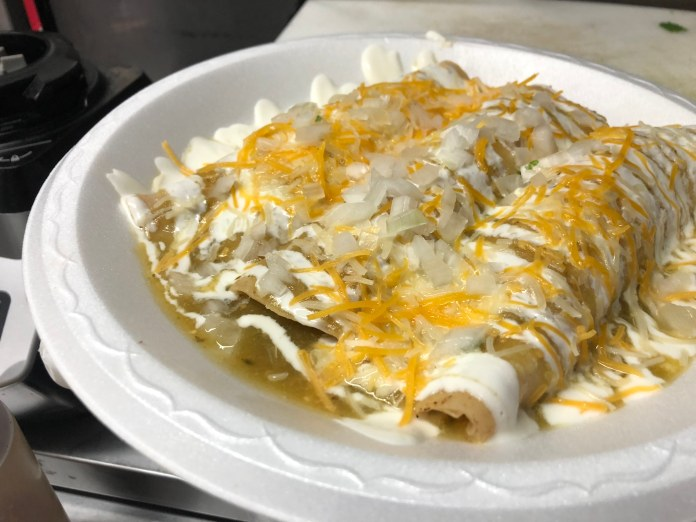 The Chicken Enchilada from Ruby's Toco Truck