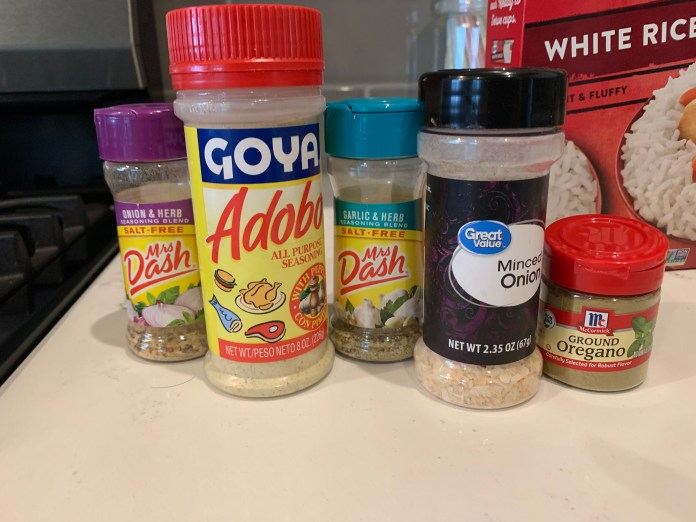 Spices needed for Puerto Rican Arroz con Gandules