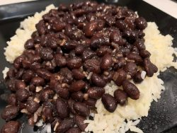Cuban White Rice and Beans