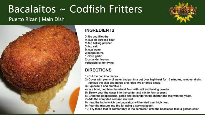 Bacalaitos ~ Codfish Fritters