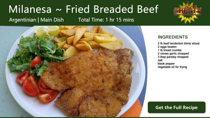 Milanesa ~ Fried Breaded Beef