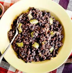 Moros y Cristianos ~ Rice and Black Beans