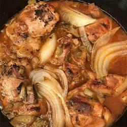 Poul nan Sòs ~ Chicken in Sauce