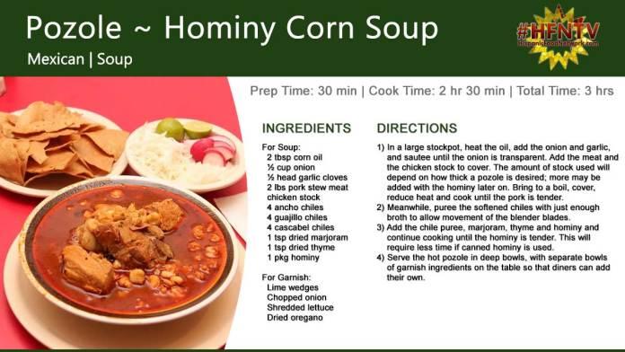 Pozole ~ Hominy Corn Soup