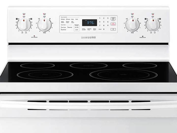 Samsung Electric Range Control Panel