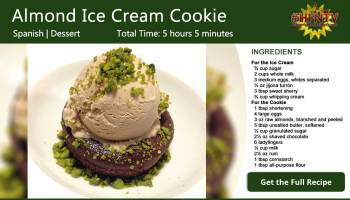 Almond Nougat Ice Cream Cookie Recipe Card