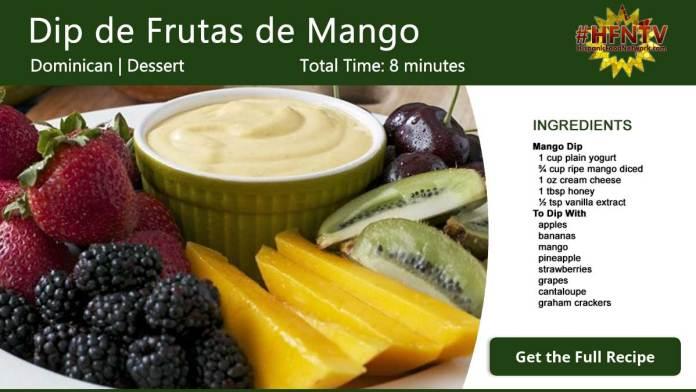 Dip de Frutas de Mango ~ Mango Fruit Dip Recipe Card