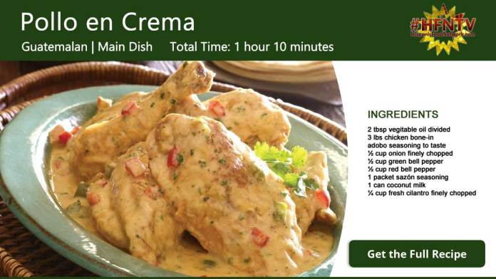 Pollo en Crema ~ Chicken in Cream Recipe Card