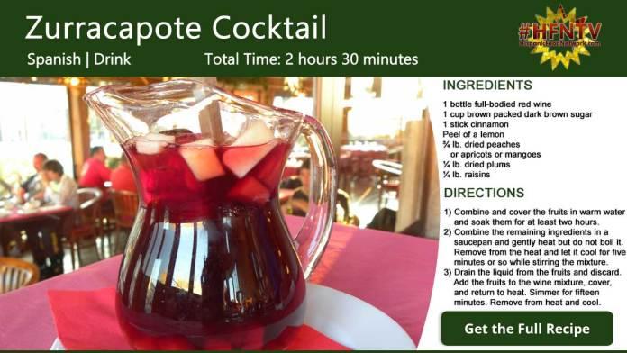 Zurracapote Cocktail Recipe Card