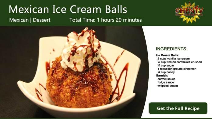 Amazing Mexican Ice Cream Balls Recipe Card