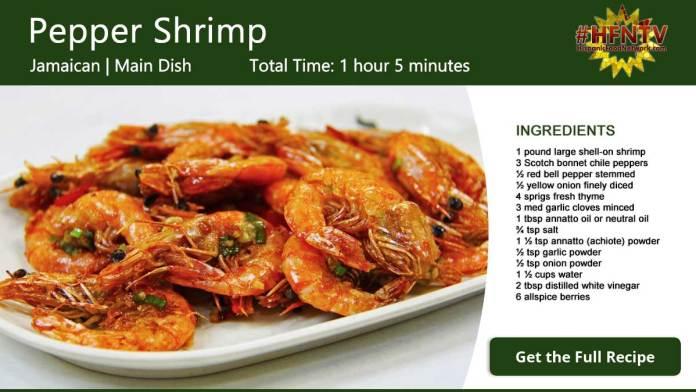 Jamaican Pepper Shrimp Recipe Card