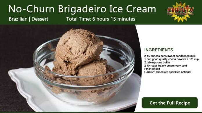 No-Churn Brigadeiro Ice Cream Recipe Card
