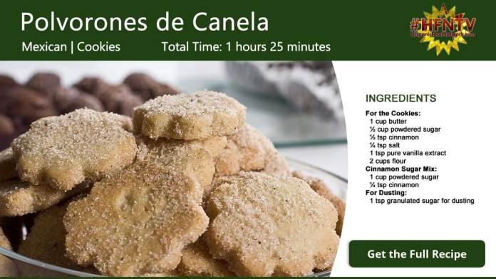 Polvorones de Canela ~ Sugar Cinnamon Cookies Recipe Card