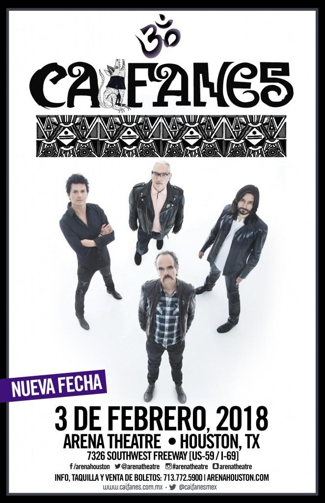 Caifanes in concert on Saturday, February 3, 2018 (hispanichouston.com)