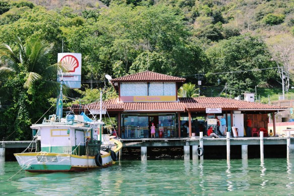 A tropical petrol station