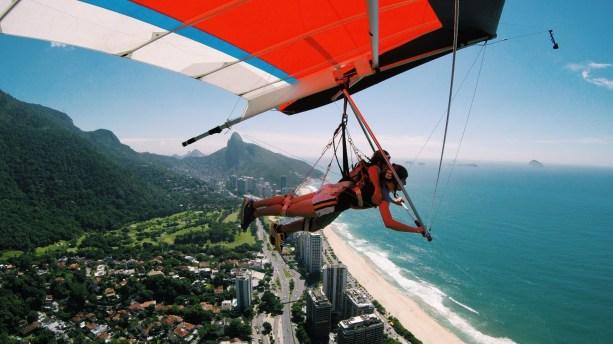 Hang gliding from Pedra Bonita