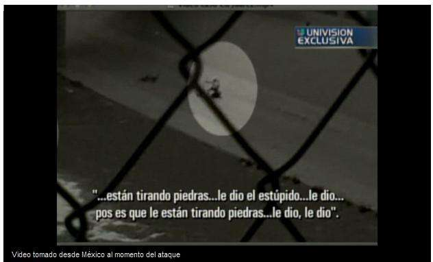 El video de un crimen anunciado