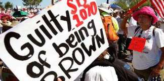 Messages from the immigration rally in los angeles: schumer = sb1070?