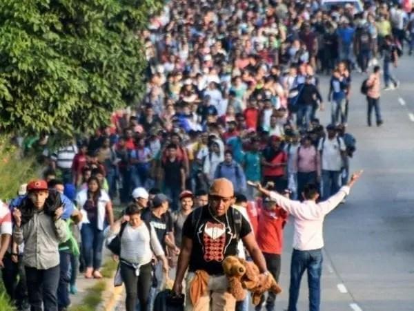 La caravana de migrantes y el pánico de trump