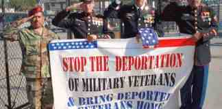 Veteranos deportados deben volver a sus casas