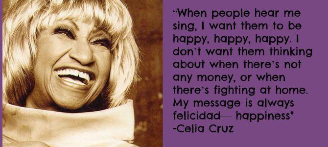 Learning about Celia Cruz