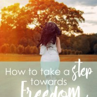 How to take a step towards freedom