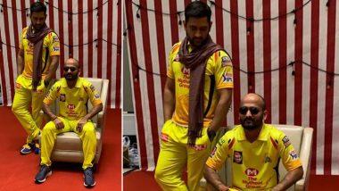 IPL 2020 update: before the first match of Chennai Super Kings vs Mumbai Indians, Dhoni and Monu Kumar got photoshoot, see photo