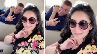 Sanjay Dutt: Airline staff gave this special gift to Sanjay Dutt going to Dubai with wife Manyata Dutt, see photo