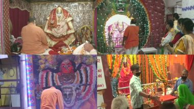 Sharad Navratri 2020: Sharadiya Navratri celebrated in the country, devotees arrived in various temples of Mother Goddess on the first day, see the picturesque pictures and videos