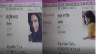 MGNREGA Fraud: Photo of Deepika Padukone and Jacqueline Fernandes on MNREGA laborers job card, money coming out of fake card