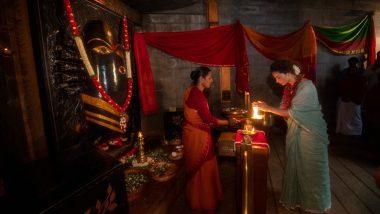 Happy Navratri 2020: On the first day of Navratri, Kangana Ranaut shared a photo taking blessings of Maa Durga
