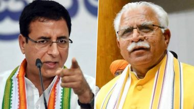Randeep Surjewala Attacks Haryana Govt: Randeep Surjewala's target on Haryana government over liquor scam, said - When Sai Bhai Kotwal, then why fear