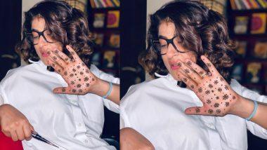 Karwa Chauth 2020: Ayushman Khurana's wife Tahira Kashyap hands over mehndi, connection with corona virus