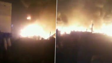 Fire in Ghaziabad: fierce fire in Delhi's Ghaziabad slums, 15 fire engines