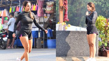 Malaika Arora spotted outside Mount Mary Church, praying with folded hands