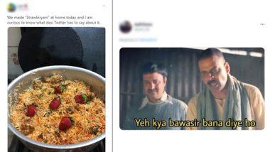 Strawberry Biryani Memes And Jokes: पाकिस्तानी शख्स ने बनायी स्ट्रॉबेरी बिरयानी, ट्विटर पर लोगों ने लगाई फटकार, देखें रिएक्शन्स