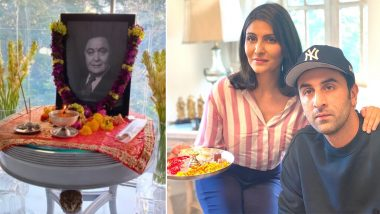 Ranbir Kapoor's family conduct online puja on Rishi Kapoor's first death anniversary, see photo