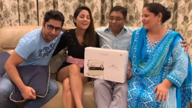 Hina Khan remembers her father, shares this memorable video with her family