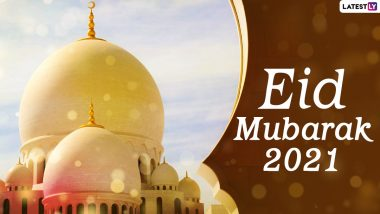 Eid al-Fitr 2021 Wishes & HD Images: Happy Eid al-Fitr's awesome WhatsApp Stickers, GIF Greetings, Wallpapers, Photos