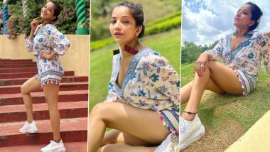 Monalisa Photos: Bhojpuri Actress Monalisa showed her beautiful style in hot style, see hot photos