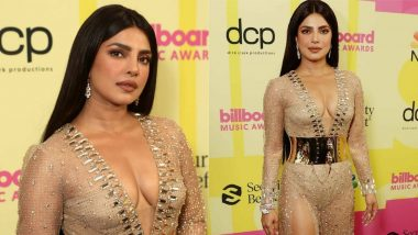 Priyanka Chopra Nude Dress: Priyanka Chopra created a sensation by wearing a nude dress at the award ceremony, see Hot Photos