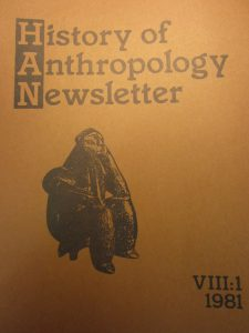 History of Anthropology Newsletter volume 8, number 1, 1981